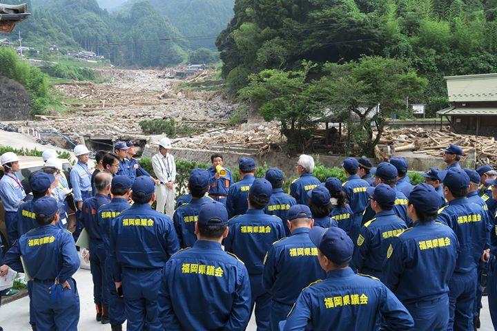 【平成29年7月九州北部豪雨被害、朝倉市・東峰村視察】
